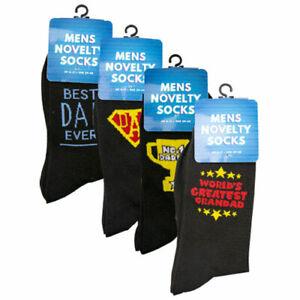 Mens Fathers Day Novelty Socks Slogan Socks Size 6-11 UK Free UK P&P 1 Pk