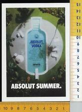 47858] PROMOCARD ITALY 5373 ABSOLUT VODKA COLLECTION N° 98 SUMMER