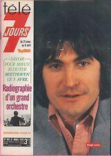 ►Télé 7 Jours 983 (1979) SERGE LAMA_MARION GAME_YVES LAURENT_LIONEL HAMPTON