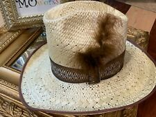 RESISTSOL STAGECOACH VINYLCOTE SELF-CONFORMING 6 7/8 STRAW HAT COWBOY HAT NEW
