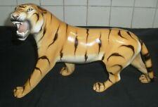 More details for large vintage italian mid century 1960s? ceramic tiger figurine #@