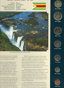 Coins from Around the World Zimbabwe all 1997 BU UNC $1,$2, 1,5,10,25,50 cents