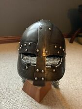 Viking Helmet With Chainmail Neck Guard