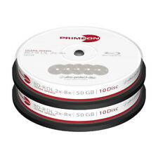 20 Primeon 2761311 Non Printable Blank Blu Ray DL Discs 50GB 2x - 8x Ultra Speed