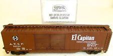 Santa Fe El Capitan 50' DBL DR Box Car Vagón de mercancía US Atlas 3627 N 1:160
