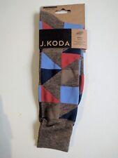 J. Koda Dress Socks Men's Triangles (Brown/Colored)