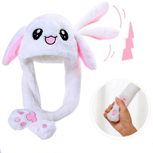 RABBIT EAR MOVING HAT CUTE BUNNY AIRBAG EARS CAP SOFT PLUSH LIVING HATS TOY GIFT