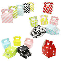 12-120pcs Dot Striped Candy Boxes Gift Bag Wedding Birthday Party Festival Decor