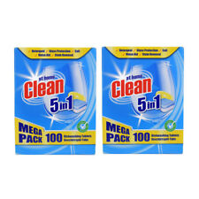 200 NEW Clean at Home All 5 In 1 One Dishwasher Dish washing Tablets Lemon Fresh