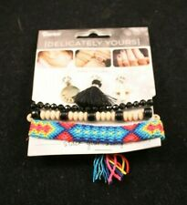 Darice - Delicately Yours - 6 Piece Bracelet and Charms Set - Makes 3 Bracelets