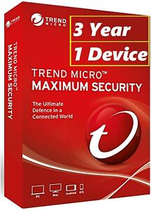 Trend Micro Antivirus Maximum Security Internet(3 year -1 Device) ONLINE SENDING