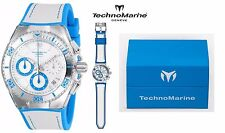 TECHNOMARINE CRUISE CALIFORNIA 46.65MM QUARTZ diving watch BLUE+SILVER DIAL, NWT