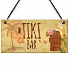 The Tiki Bar Party Hanging Bar Pub Plaque Beer Cocktails Beach Decoration Sign