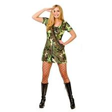 *CLEARANCE* Sexy Army Girl Womans Fancy Dress Costume (Wicked)
