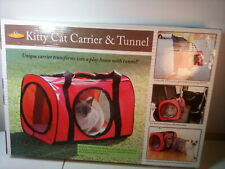 Kitty Cat Carrier And Tunnel Play Area Combo Red - New in Box