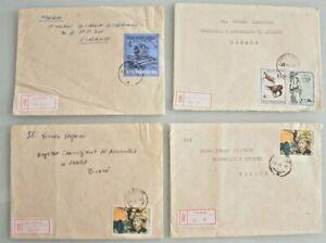 Albania Stamps  4 COVERS  Durres, Banje,Tirane