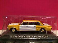 SUPERBE TAXI MERCEDES 240D BEIRUT 1970 ech 1/43 NEUF SOUS BLISTER