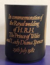 CHARLES & DIANA Royal Wedding Commemorative Mug Lancaster Vitramic Lady Di 1981