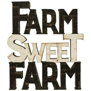 """New """" FARM SWEET FARM"""" Cut out wood letters sign Country Home Farmhouse"""