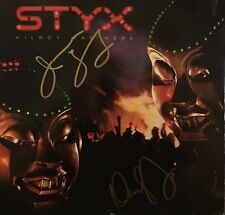 Dennis DeYoung James Young Signed Vinyl LP Styx Kilroy Was Here Mr Roboto Proof