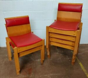 Chairs Reception Linking Stacking Red FREE MANCHESTER DELIVERY
