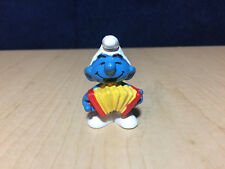 Smurfs Accordion Smurf 20225 Musical Squeezebox Figure Rare Vintage Toy Figurine