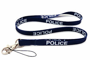 POLICE BLUE HIGH QUALITY LANYARD NECK STRAP Ideal for MOBILE ID KEY MP3 IPOD