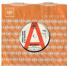 "Gordon Franks - Newsboy 7"" Single 1966 / PROMO"