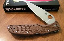 Couteau Spyderco Endura 4 Brown Acier VG-10 Manche FRN Made In Japan SC10FPBN -