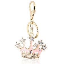 Porte-clé Sac à main charme accessoires princesse rose couronne