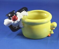 Sylvester the Cat and Tweety Bird Ceramic Planter Figurine Bowl