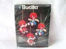 New Bucilla Rag A Muffin Jeweled Holiday Ornament Embroidery Felt Christmas Doll