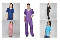 V Neck Grooming Smocks and Contrast Trim Tops Water Repellant Stylist Groomer