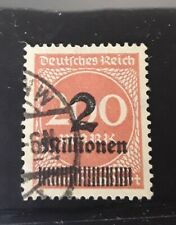 Deutches Reich 1923  inflation surcharged stamp SG 302 fine used