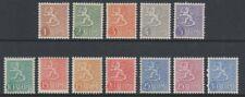Finland - 1954/9, 1m - 30m (Set less 20m Purple) stamps - MNH & L/M - SG 525/32b