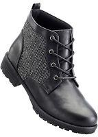 Damen Stiefel Schuhe Schnür Freizeit Boot Winter Stiefeletten Gr. 36 NEU