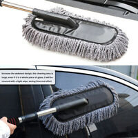 Car Wash Brush Telescopic Handle Vehicle Cleaning Tool Soft Truck Boat   PAN@