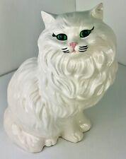 Vintage Persian Large Cat Sitting Ceramic