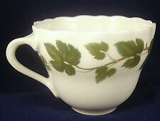 HUTSCHENREUTHER COFFEE CUP WEINLAUB Grape Leaves Green Maria Teresia White Flat