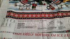 Concord's Holiday on Ice Vest Fabric Panel Sized S-XL Designed by The Kesslers