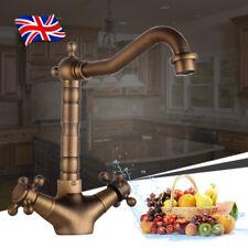 Hot/Cold Tap Faucet Sink Mixer Kitchen Retro Antique Double Handle Copper Brass