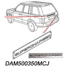 LAND ROVER RANGE SUPERCHARGED EMBLEM PLATE BADGE DECAL DAM500350MCJ ALLMAKES4x4