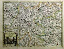 1729 Splendid Van der Aa Map of Paris Region, Isle de France