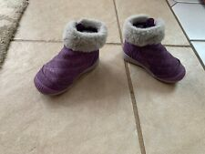 Stride Rite purple girl boots leather 5.5M