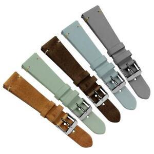 Geckota® Vintage Winchester Short Quick Release Genuine Leather Watch Strap