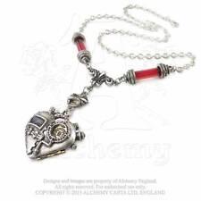 Steampunk Herz Gothic Anhänger Kette ALCHEMY Cosplay Amulett Talisman P567