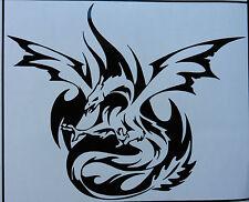 Pheonix MITO MAGIC TOTEM Dragon Adesivi / Auto / Van / paraurti / Finestra / Decalcomania 5275 NERO