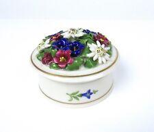 Dressel & Kister Passau Hand Painted German Mark Porcelain Lidded Flower Jar