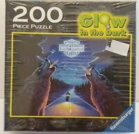 Harley Davidson Glow in Dark Jigsaw Puzzle 200 Pieces Motorcycle Wolves