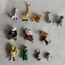 Shrek Panda Madagascar Action Figures Collection Model Toy Gift 12pcs/set